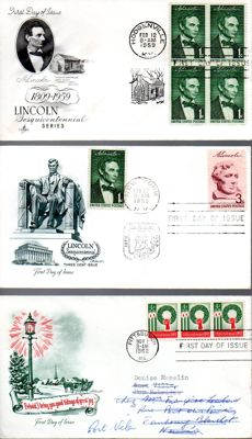 Kingdom of Italy/Republic 1929-1983 - Collection of 164 mailed letters from the United States of America, comprising 52 airmail letters