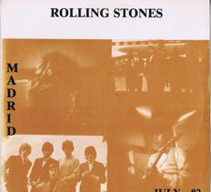 Rolling Stones - 2LPset: Live Madrid July 1982 (Double LP) No label | Tattoo You Tour.