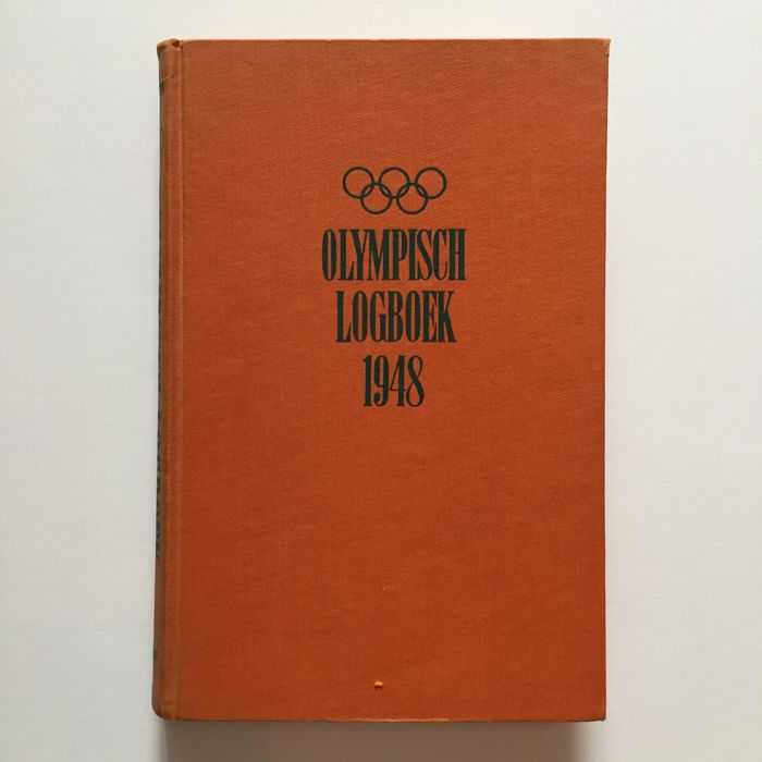 Rare - 1948 Olympic Log - Signed by Fanny Blankers-Koen - IAAF athlete of the 20th century