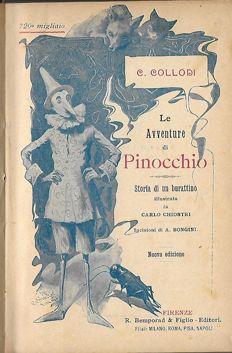 Pinocchio; Lot with 7 illustrated books in various languages - 1914 / 2008