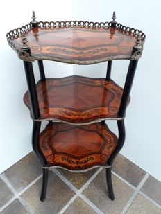 Napoleon III Etagere table with marquetery - France - ca 1890
