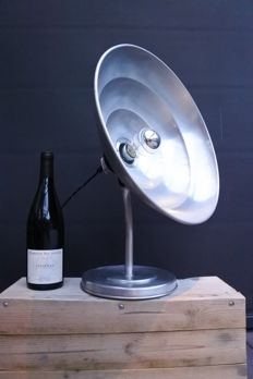 Unknown designer - Up-cycled German heat lamp, industrial table lamp / desk lamp.