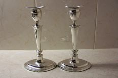 Set of silver candle stands, Thomas A. Scott, Sheffield, 1910