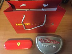 Lot of 2 official Ferrari pens + Ferrari Store bag