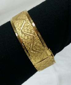 Large 18 kt gold plated bracelet - Length: 19.6 cm