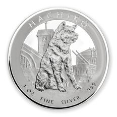 Niue - 1 Dollar 2016 'Hachiko proof' with box and certificate - 1 oz silver