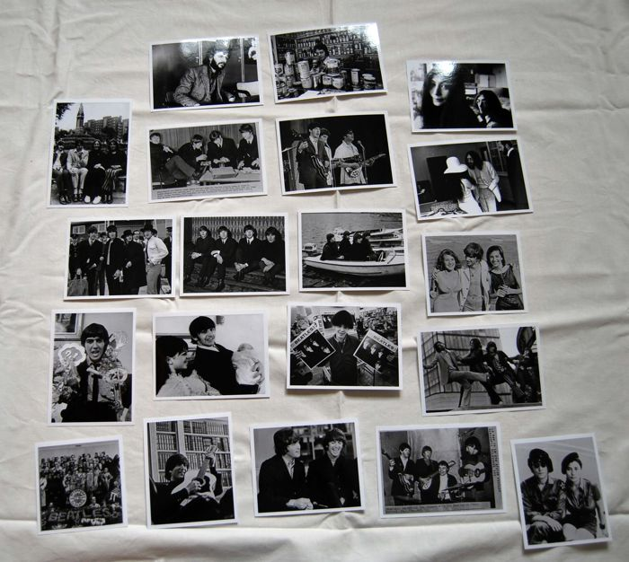 The Beatles a stunning set of 56 photos 1963 - 1969 + Brian Epstein colour