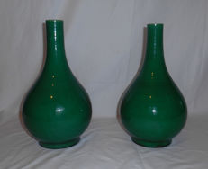Pair of porcelain vases from China - end 20th century.