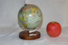 Paul Räth - rare old retro advertising globe on a wooden base