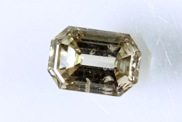 AIG Diamant - 0.41 ct - Fancy Light Yellowish Brown  - SI2  -  * NO RESERVE PRICE *