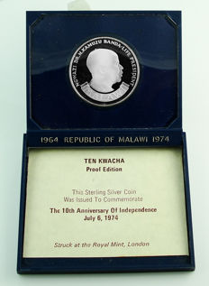 Malawi - 10 Kwacha 1974 '10th Anniversary of Independence' - silver