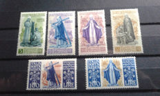 Italy, Republic 1948 - 6th centenary of the birth of St. Catherine series - Sass. N°  574/577 and A146/A147