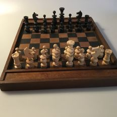 Antique chess / checkers set from 1880