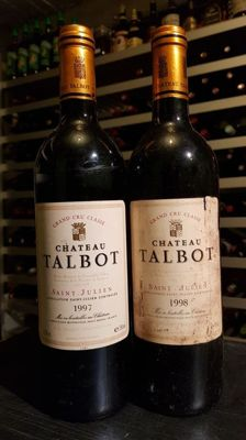 1997 et 1998 Chateau Talbot - Saint Julien - Grand Cru Classé / 2 bottles