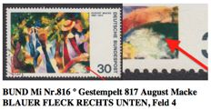 GDR or East Germany, Bund, Saar and German Empire - Collection with 75 errors and curiosities