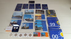 The Netherlands - 5 x silver 10 guilder 1994/1999 complete set + 2x mini coin set FDC + inauguration set 1980 FDC + 31 x FDC year packs various years