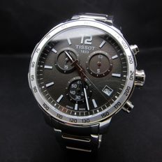 Tissot Quickster Black Chronograph Sports Tachymeter Swiss Day Watch-Mint