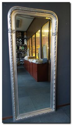 Mega large arched mirror - facet cut glass - 80x180cm!