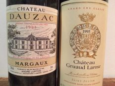 1995 Chateau Gruaud Larose, St. Julien Grand Cru Classé and 1995 Chateau Dauzac, Margaux Grand Cru Classé - 2 bottles