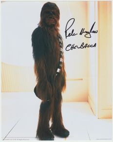 Star Wars - signed 8x10 inch photo - autograph from Peter Mayhew as Chewbacca - Collectormania