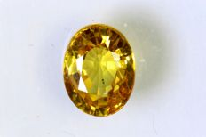 Yellow Orange Sapphire - 1.19 ct
