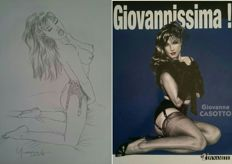 "Casotto, Giovanna - volume ""Giovannissima!"" + an original illustration ""Pin Up"" (2017)"