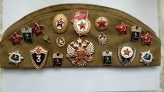 Soldiers beret with decorations, Russia