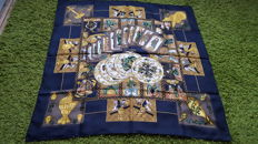 "Hermès Paris ""Le tarot"" scarf, designed by Faivre, in very good condition"