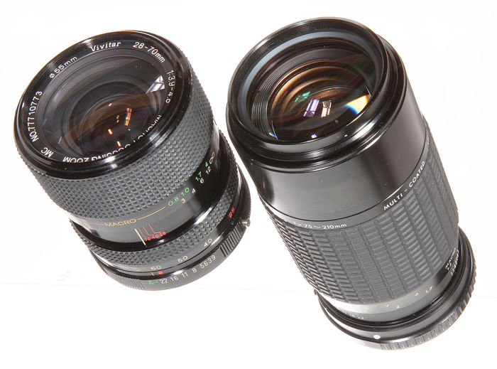 Sigma Zoom-KIII 75-210 3.5/4.5 lens for Olympus in new condition, Vivitar 28-70  3.9/4.8 very nice