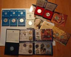 Italy and San Marino - batch of coin sets 1975–1990 (11 pieces)