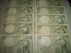 Germany - 220 German Reichsbank notes in 18 different varieties