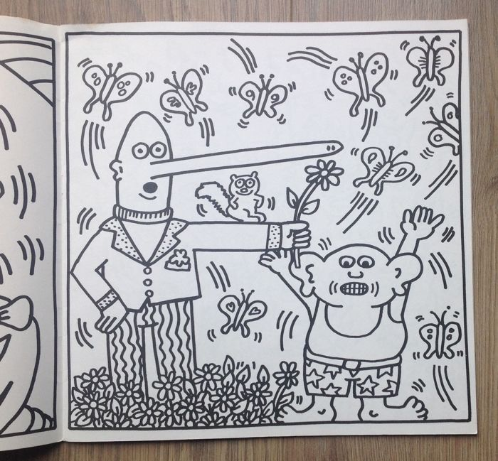The Keith Haring Coloring Book - 1986 - Catawiki