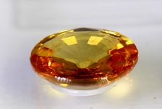 Yellowish Orange Sapphire - 1.11 ct