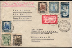 Former Italian Colonies, Libya, 1938 - 12th Fair of Tripoli, 2 used envelopes