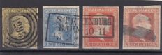 German States 1851/1867 - Hamburg , Bayern , Bergedorf and Preussen - a little selection + 1 cover