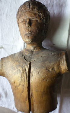 Wooden Sculpture - Bust - Northern Italy - 20th century