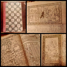 India; Antique mystic book from the Mughal dynasty period - 17th century