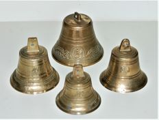 Cast Bronze Clock Bells - 4 x