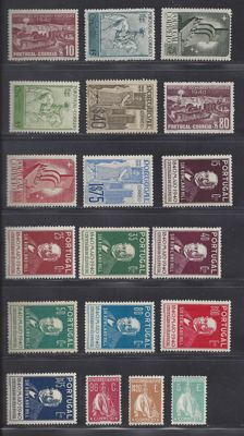 Portugal 1920/1944 - Various issues - Michel 286, 289, 296, 614/621, 622/629
