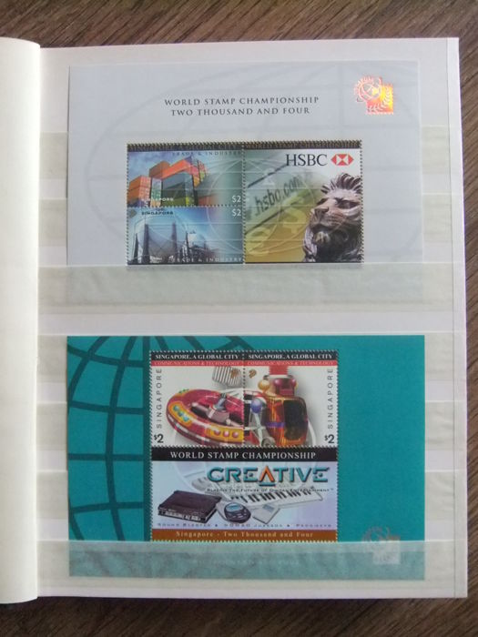 Singapore and Malaysia - Batch of more than 3200 separate stamps and