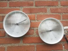 BoxtelBuijs for Karlsson - Set of two rare large nautical gauges -Thermometer and Hygrometer