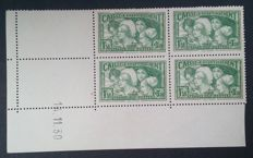 France 1931 - Sinking Fund, young women, block of 4 dated in corner, signed Calves - Yvert 269
