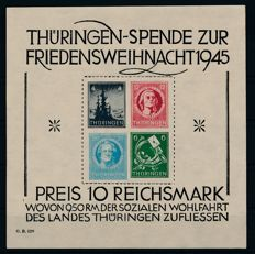 "Soviet zone Thuringia - 1945 - ""Large Christmas block"" - Michel block 2x (I)"