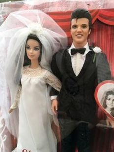 Elvis and Priscilla Barbie® doll and Elvis doll giftset pink label™ collection