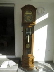 Grandfather clock, corner clock, interclock Kieninger with Westminster striking mechanism 4/4 - circa 1983