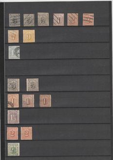 Hamburg 1859/1867, beautiful collection with some inspected stamps