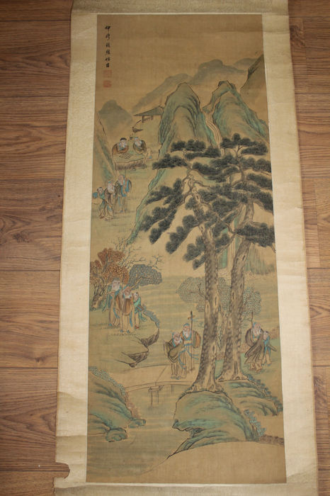 Antique Chinese scroll painting - late 19th / early 20th century