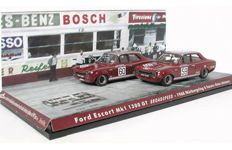 Trofeu - Schaal 1/43 - Lot with 2 x Ford Escort 1300 GT Broadspeed