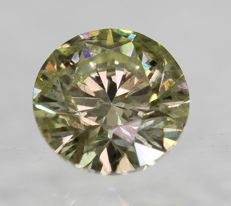 Diamond – 0.61 ct - Fancy Yellow / SI1  ** No Reserve **