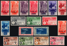 Cyrenaica 1932/1934 - Airmail collection, 6 complete series - Sass.  N°  1/2, 4/5, 6/11, 18/19, 20/24